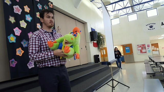 Dr. Spray Visits Panorama Elementary