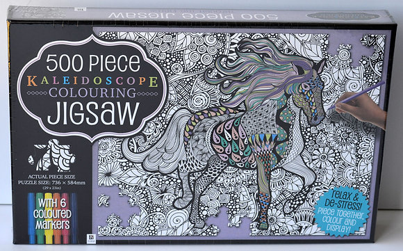 Kaleidoscope Colouring Jigsaw