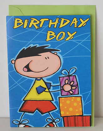 Blue Birthday Boy Card