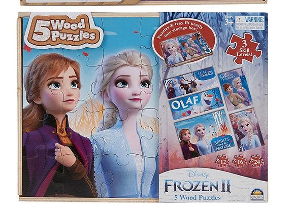 5 Wood Frozen Puzzles