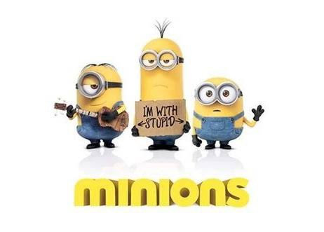 """Minions """"I'm With Stupid"""" Large Poster"""