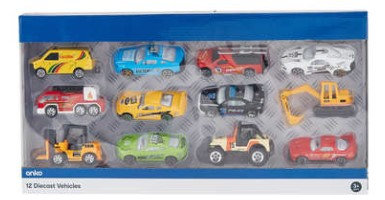 12 Assorted Diecast Vehicles