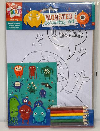 Monster Colouring Set