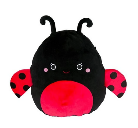 "Squishmallow 12"" Plush - Trudy the Lady Bug"