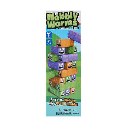 Wobbly Worms Tower Balancing Game