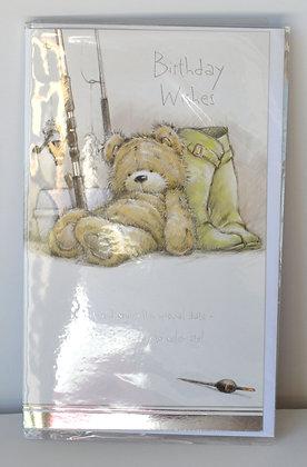 Fishing Bear Birthday Card