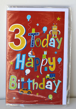 3 Today Happy Birthday Card