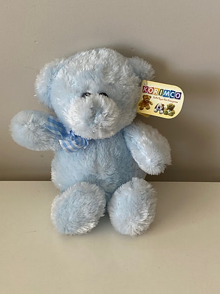 Teddy with Check Ribbon