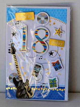 Music 18th Birthday Card