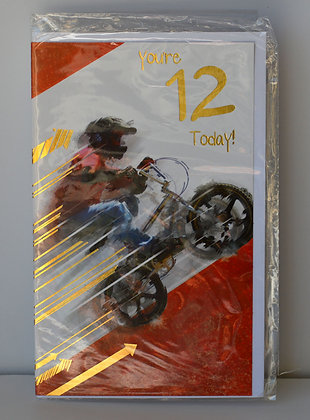 12 Today Bike Birthday Card