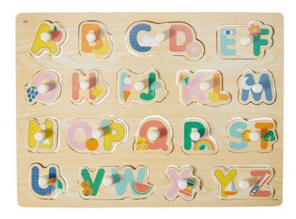Wooden Peg Puzzle - ABC
