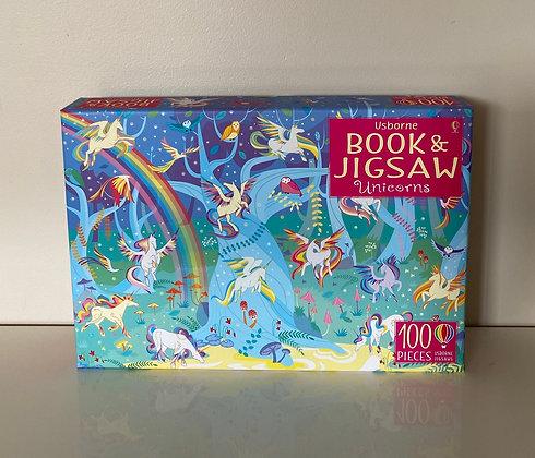 100 Piece Unicorn Puzzle & Book