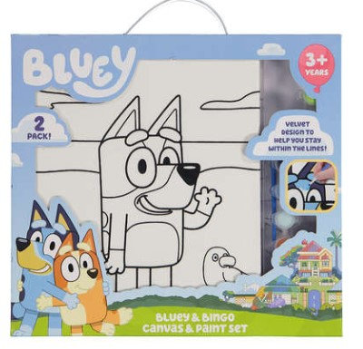 Bluey & Bingo Canvas Paint Set