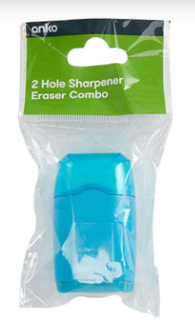 2 Hole Sharpener Eraser Combo