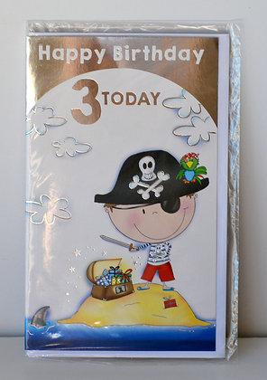 Pirate 3rd Birthday Card