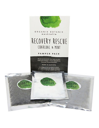 Organik Botanik Recover Rescue Charcoal & Mint Pamper Pack