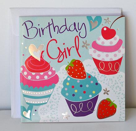Birthday Girl Cupcake Card