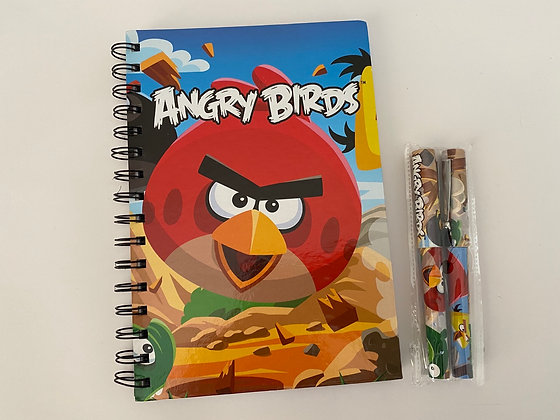 Angry Birds A5 Notebook & Pens