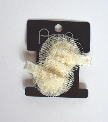 Pearl & Tulle Hair Clips
