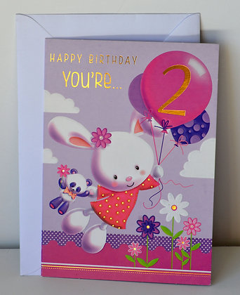 2 Years Old Birthday Card
