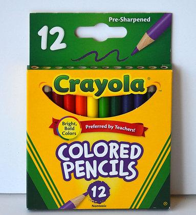 Mini Crayola Coloured Pencils