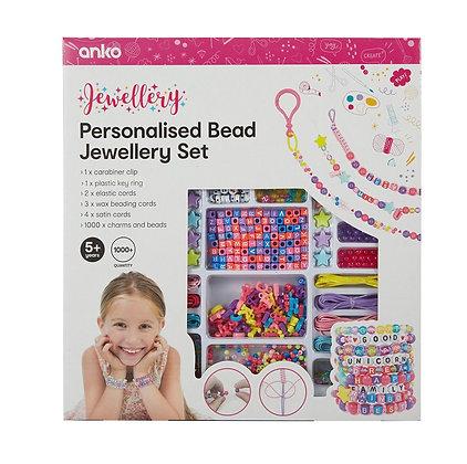 Personalised Bead Jewellery Set
