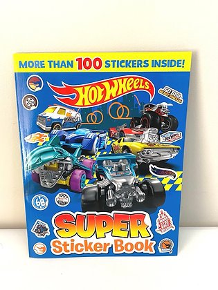 Hot Wheels Super Sticker Book