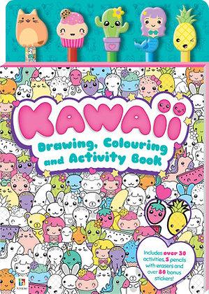 Kawaii Drawing, Colouring & Activity Book