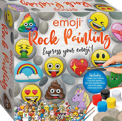 Emoji Rock Painting