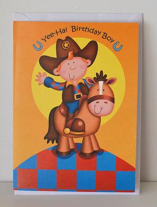 Cowboy Birthday Boy Card