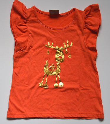 Gold Reindeer Top