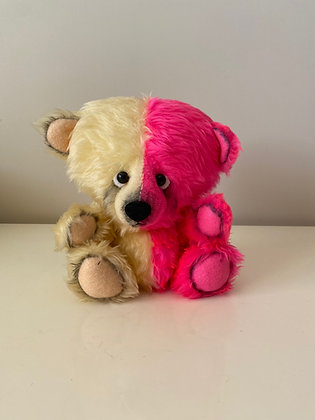 Handmade Two Tone Teddy Bear