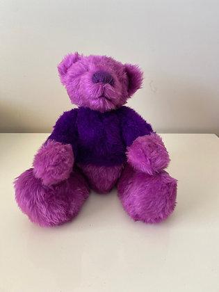 Handmade Purple Teddy Bear