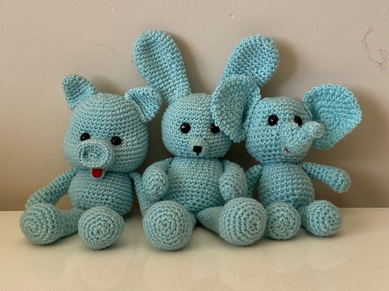 Hand Knitted Trio