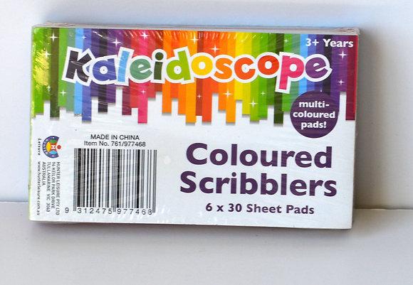 Kaleidoscope Coloured Notepad