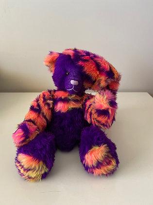 Handmade Print Teddy Bear