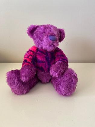 Handmade Purple Print Teddy Bear
