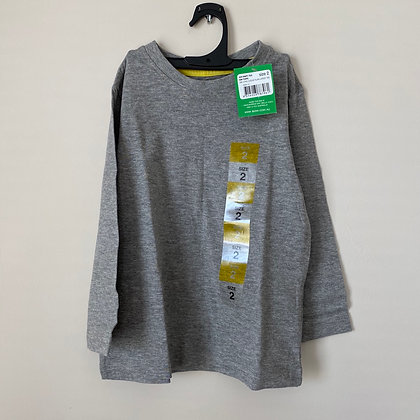 Toddler Long Sleeve Grey Shirt
