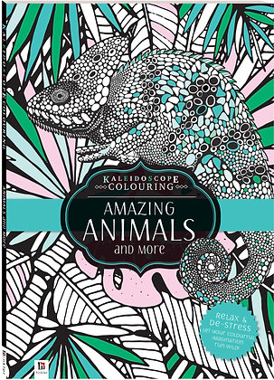 Amazing Animals Colouring In Book