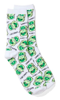 Wad's Up Novelty Socks