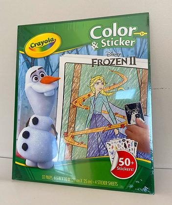 Crayola Colour & Sticker Book - Frozen II