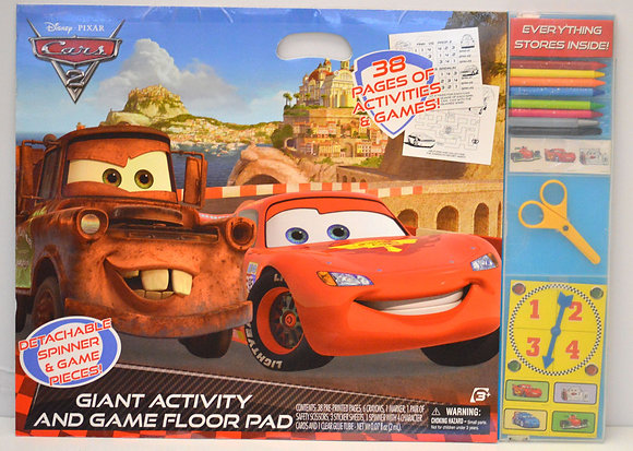 Cars 2 Giant Activity & Game Pad