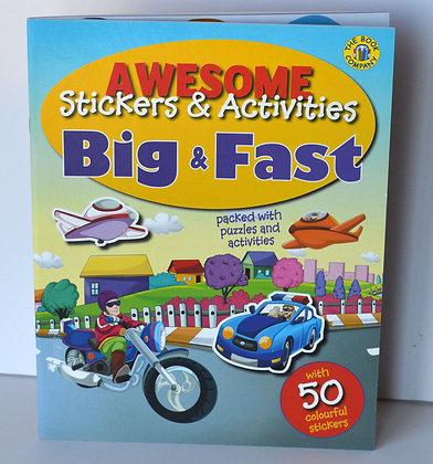 Big & Fast Sticker Book