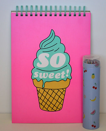 Ice Cream Themed Drawing Book
