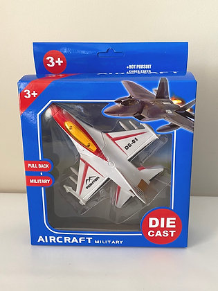 Diecast Pull Back Military Plane