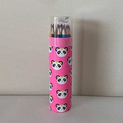 Panda Tin - 24 Coloured Pencils
