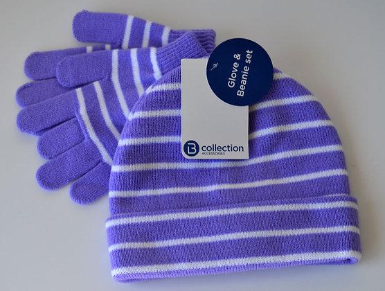 Beanie & Glove Set - Purple