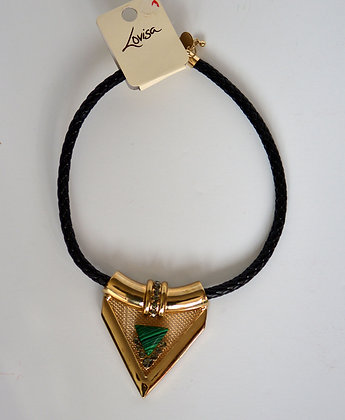 Green & Gold Collar Necklace