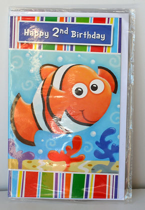 Nemo 2nd Birthday Card