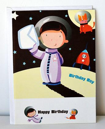 Astronaut Birthday Boy Card